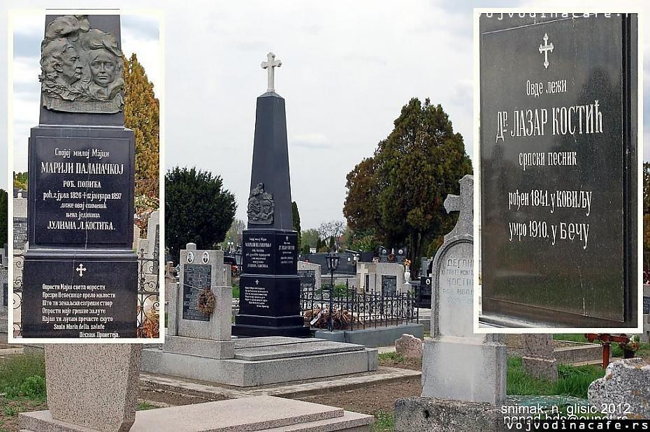 Grob Laze Kostića - Sombor